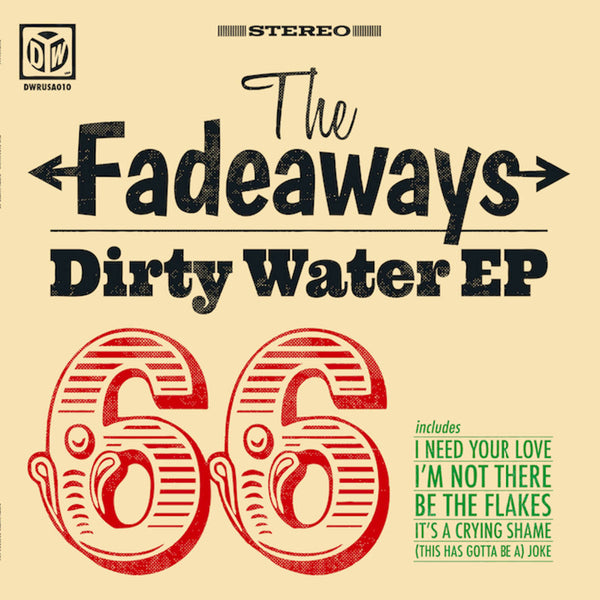 "Fadeaways- Dirty Water EP 10"" ~RARE RED WAX!"