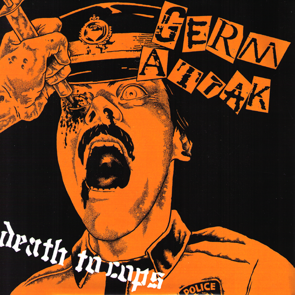 "Germ Attak- Death To Cops 7"" ~ASTA KASK! - Shogun - Dead Beat Records"