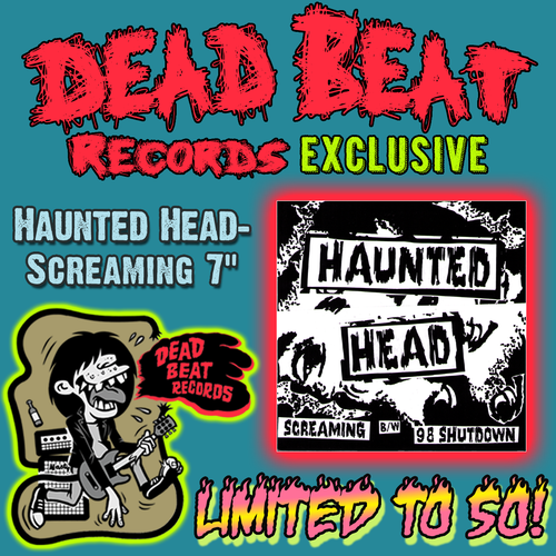 "Haunted Head- Screaming 7"" ~RAREST COVER LIMITED TO 50 NUMBERED COPIES!"