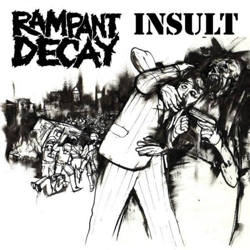 "Insult/Rampant Decay- Split 7"" ~DEEP WOUND / RARE SMOKE COLORED WAX!"