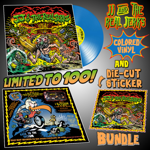 JJ & The Real Jerks- Back To The Bottom LP ~BLUE VINYL + DIE-CUT STICKER BUNDLE LTD TO 100!