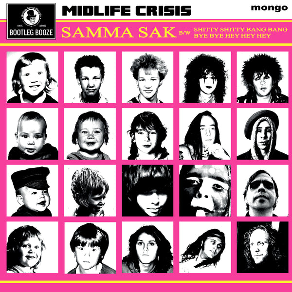 "Midlife Crisis- Samma Sak 7"" ~RARE CLEAR VINYL WITH BLACK SMOKE STREAKS!"