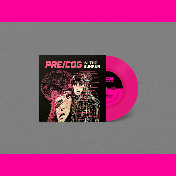 "Pre/Cog In The Bunker- Precog's Dream 7"" ~RARE OPAQUE MAGENTA WAX LTD TO 100!"