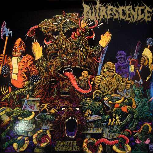 Putrescence- Dawn Of The Necrofecalizer LP - Oil River - Dead Beat Records