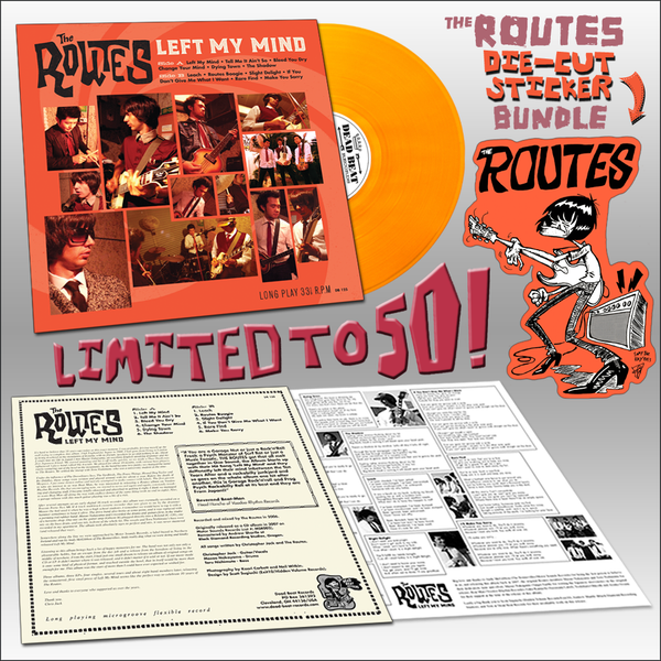 The Routes- Left My Mind LP ~RIPPER BUNDLE LTD TO 50! - Dead Beat - Dead Beat Records - 1