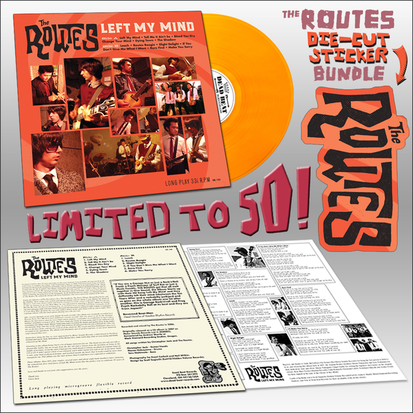 The Routes- Left My Mind LP ~FUZZED BUNDLE LTD TO 50! - Dead Beat - Dead Beat Records - 1