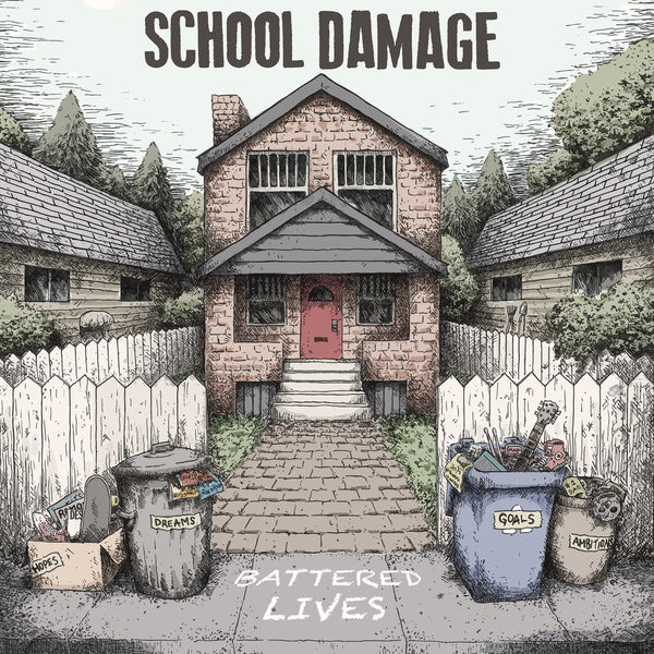 School Damage- Battered Lives LP ~DILLINGER FOUR!