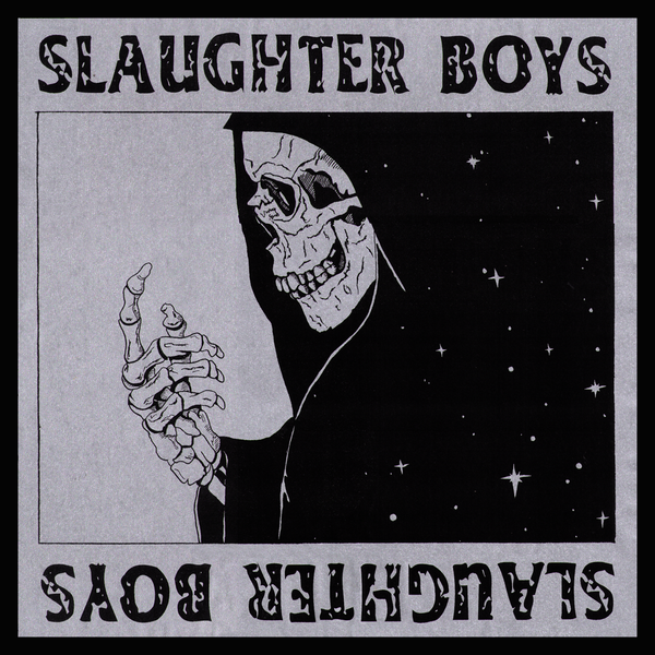 Slaughter Boys- S/T LP ~VERY RARE SILVER METALLIC GRIM REAPER ALTERNATE COVER LTD TO 30!