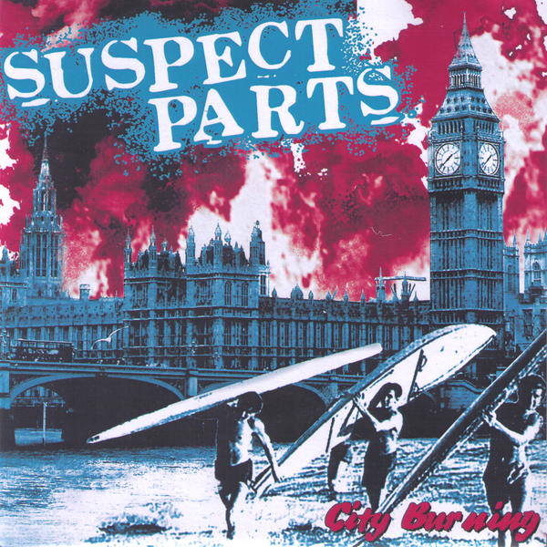 "Suspect Parts- City Burning 7"" ~EX BRIEFS /RARE ALT COVER LTD TO 30!"