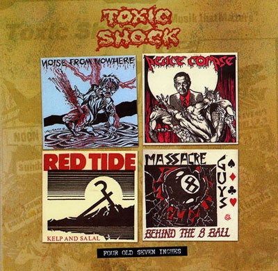 "V/A- 4 Old Toxic Shock 7"" EP's from '82 - '84 CD - Dr Strange - Dead Beat Records"
