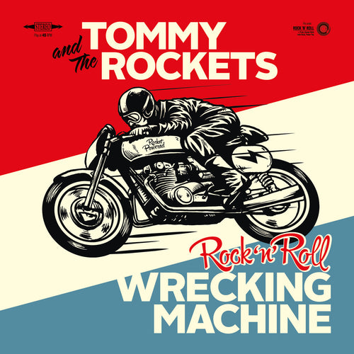 "Tommy & The Rockets- Wrecking Machine 7"" ~GHOST HIGHWAY RECORDINGS!"