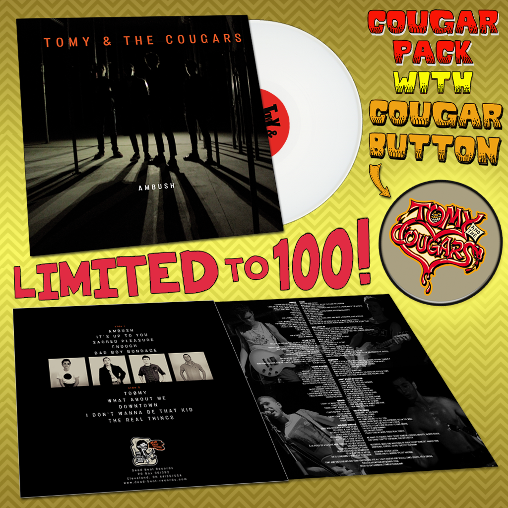 Tomy And The Cougars- Ambush LP ~COUGAR PACK LIMITED TO 100! - Dead Beat - Dead Beat Records - 1