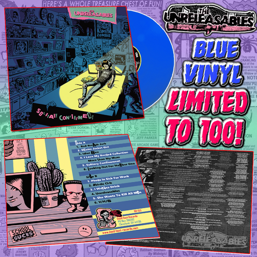 Unreleasables- Solitary Confinement LP ~RARE BLUE VINYL LTD TO 100!