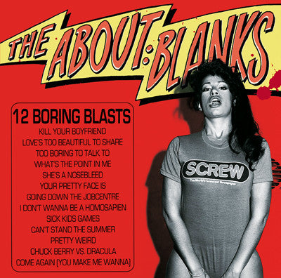 ABOUT BLANKS - 12 Boring Blasts LP  ~EX MOORAT FINGERS! - Ptrash - Dead Beat Records