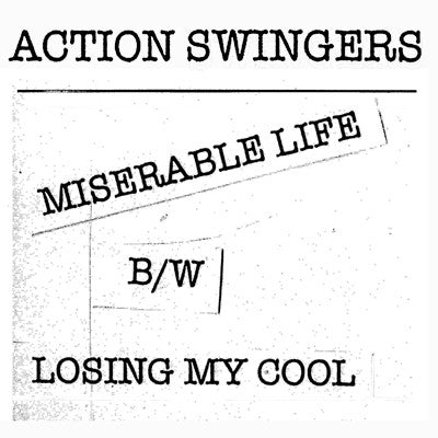 "ACTION SWINGERS- Miserable Life 7"" - Floridas Dying - Dead Beat Records"