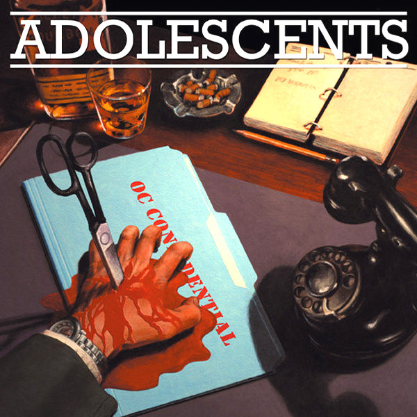 Adolescents- OC Confidential LP ~RARE BLUE WAX!