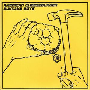 "American Cheeseburger/Bukkake Boys- Split 7"" ~LTD TO 300! - Vinyl Rites - Dead Beat Records"