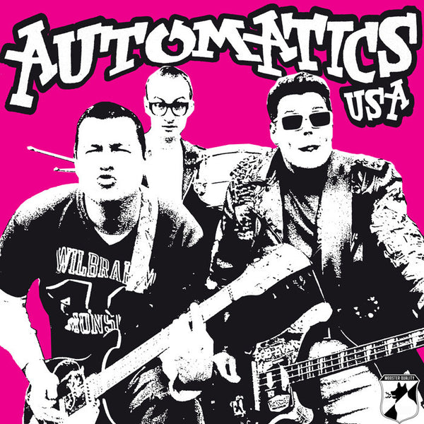Automatics- S/T LP ~REISSUE ON RARE PINK BLACK SPLAT WAX WITH TOUR FLYER!