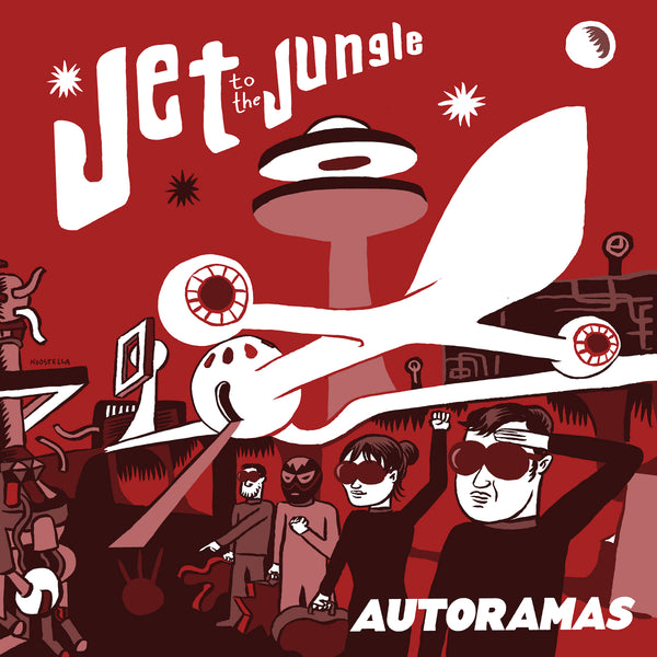"Autoramas- Jet To The Jungle 7"" ~CRIMSON SHADOWS / RARE RED WAX!"