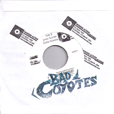 "Bad Coyotes- When The Pack Comes Rollin 7"" ~RIP OFFS! - Modern Action - Dead Beat Records"