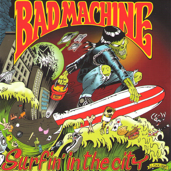 Bad Machine- Surfin In The City LP ~RED WAX LTD TO 100! - Tornado Ride - Dead Beat Records