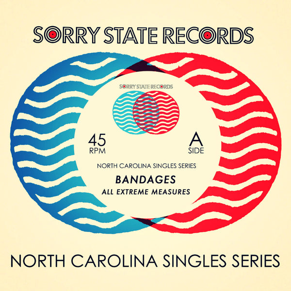 "Bandages- Tokyo Carwash 7"" ~EX DOUBLE NEGATIVE! - Sorry State - Dead Beat Records"
