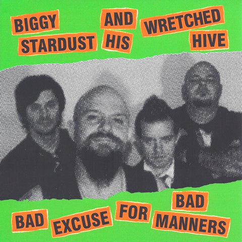 Biggy Stardust And His Wretched Hive- Bad Excuse LP ~RARE GREEN WAX!