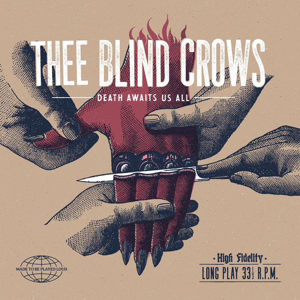 Blind Crows- Death Awaits Us All LP ~GHOST HIGHWAY RECORDINGS!