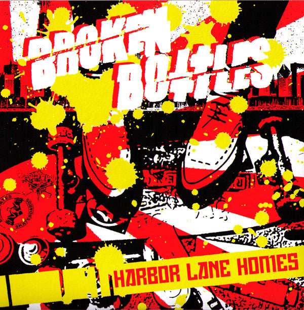 "BROKEN BOTTLES- 'Harbor Lane Homes' 7"" - NO FRONT TEETH - Dead Beat Records"