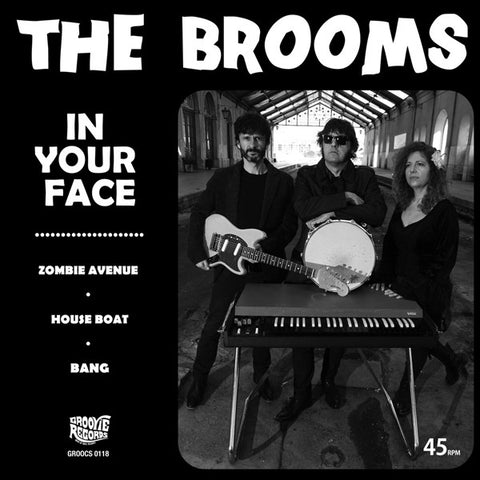 "The Brooms- In Your Face 7"" ~FUZZTONES!"