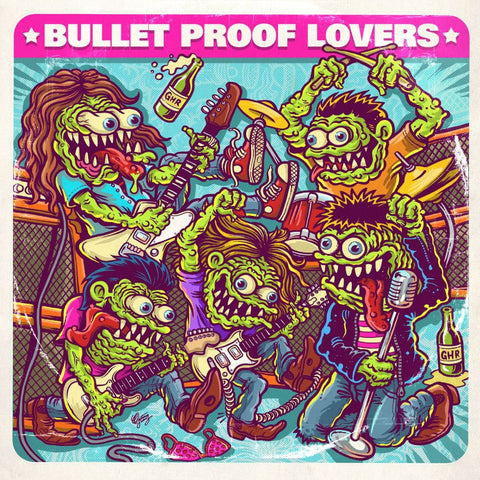 "Bullet Proof Lovers- S/T 7"" ~250 HAND NUMBERED!"