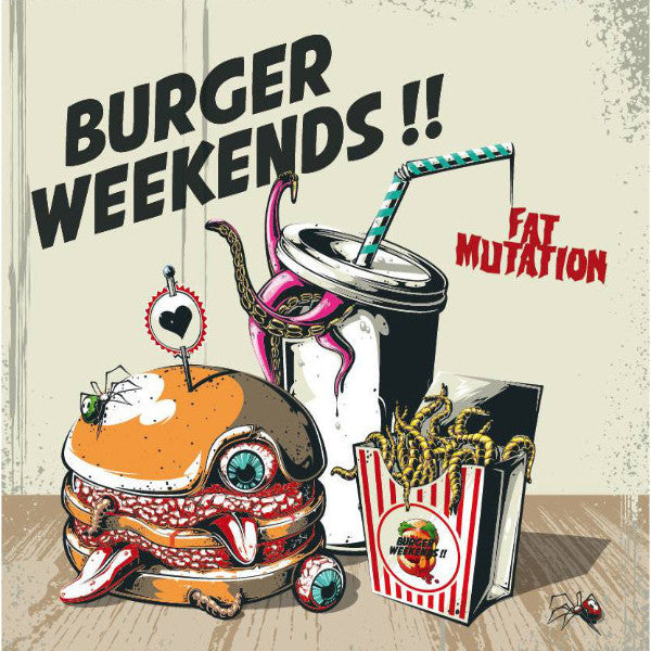 Burger Weekends- Fat Mutation LP ~LTD TO 200 ON BLACK! - Wanda - Dead Beat Records