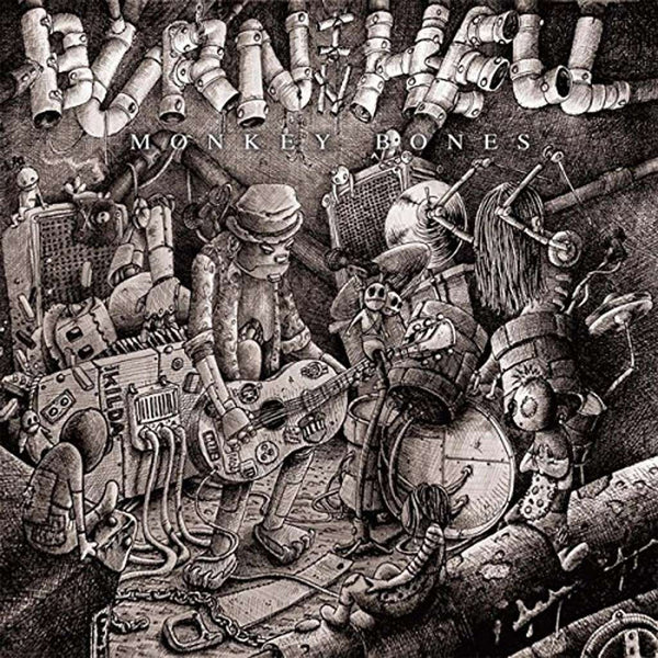 Burn In Hell- Monkey Bones LP ~GATEFOLD JACKET! - Beast - Dead Beat Records