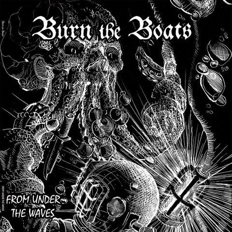 Burn The Boats- From Under The Waves LP ~RARE RED OR BLUE MARBLE WAX! - Little T & A Records - Dead Beat Records