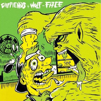 "Caffiends/Wolf Face- Split 7"" - Mooster - Dead Beat Records"