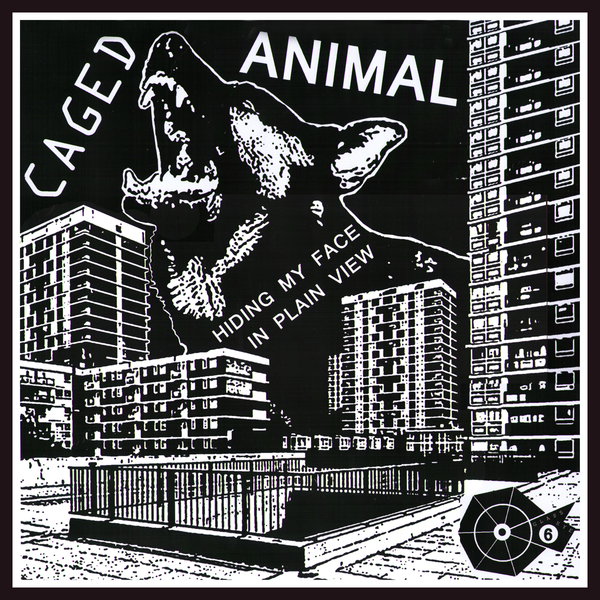 Caged Animal- Hiding My Face In Plain View LP ~RARE ALTERNATE COVER LTD TO 50!