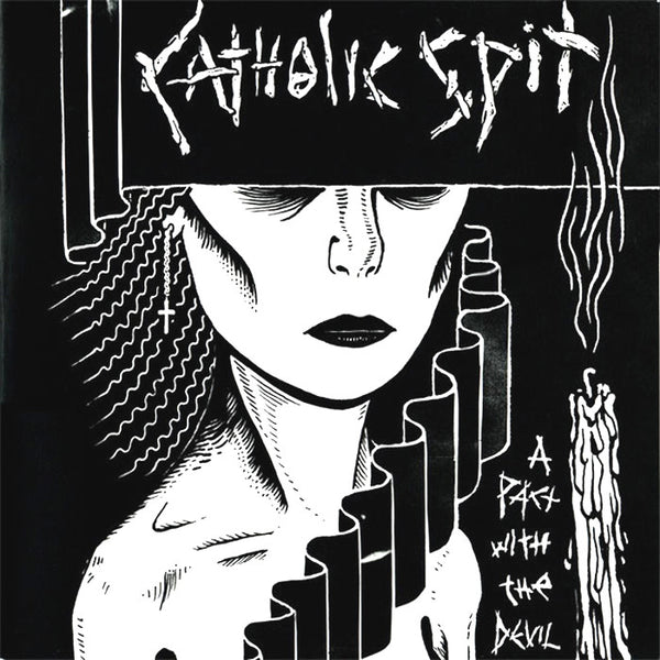 Catholic Spit- A Pact With The Devil LP ~RARE TRANSPARENT PURPLE WAX!