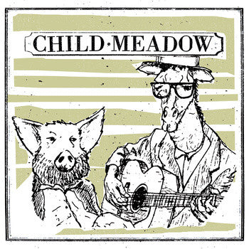 CHILD MEADOW- Crispy BBQ Tofu Burger LP ~HAND SCREENED COVERS! - Protagonist Music - Dead Beat Records