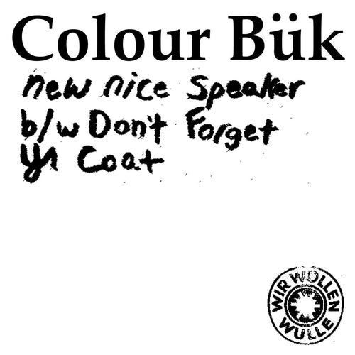"Colour Bük- New Nice Speaker 7""  ~LTD 150 WHITE WAX!"