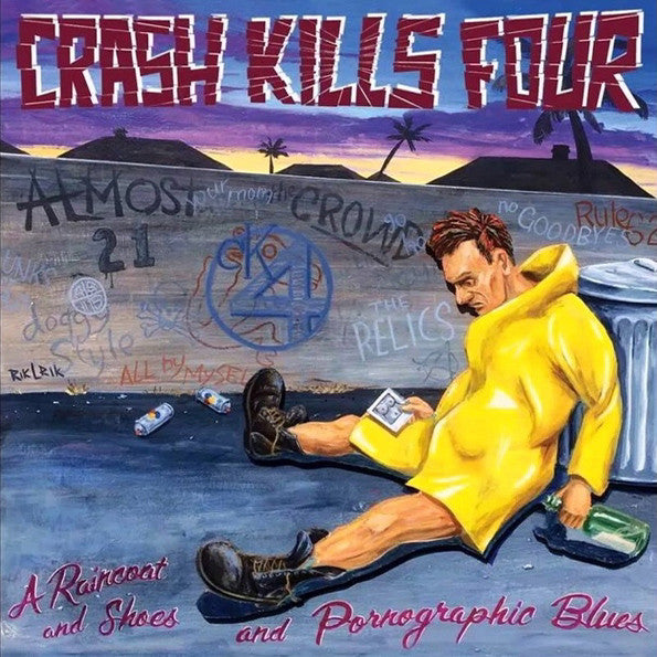Crash Kills Four- A Raincoat And Shoes LP ~EX ADOLESCENTS! - Gummopunx - Dead Beat Records