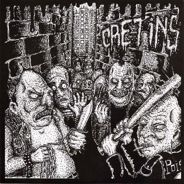 "Cretins- S/T 7"" ~DEEP WOUND! - Grave Mistake - Dead Beat Records"