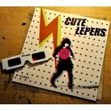 "CUTE LEPERS- B-sides 10"" ~W/ 3-D GLASSES!! - Rockin Bones - Dead Beat Records"