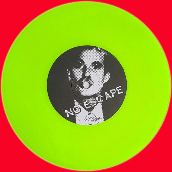 "Cute Lepers- No Escape 7"" ~RARE NEON SLIME GREEN WAX W/ YELLOW COVER!"