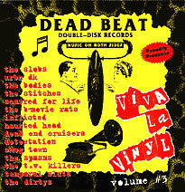 V/A- 'Viva La Vinyl #3' LP ~STITCHES, SMOG TOWN, BODIES - Dead Beat - Dead Beat Records