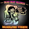 Dead Beat Records Die-Cut Holographic Sticker