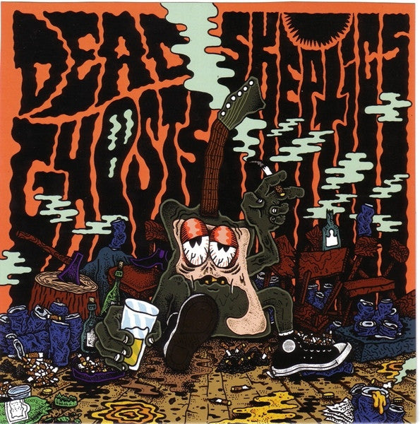 "Dead Ghosts/Skeptics- Split 7"" ~RARE BLUE WAX! - Frantic City - Dead Beat Records"