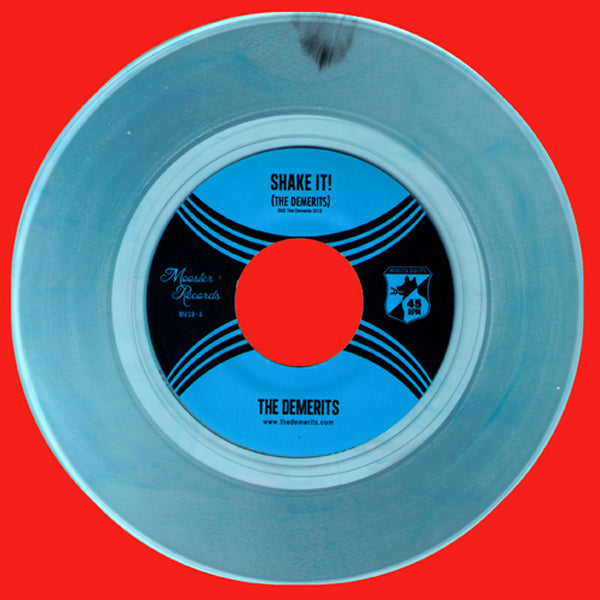 "Demerits- Shake 7"" ~BLUE COKE BOTTLE CLEAR LTD TO 100! - Mooster - Dead Beat Records - 1"