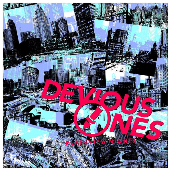 Devious Ones- Plainview Nights LP ~RARE BLUE AND RED ALT COVER LTD 50!