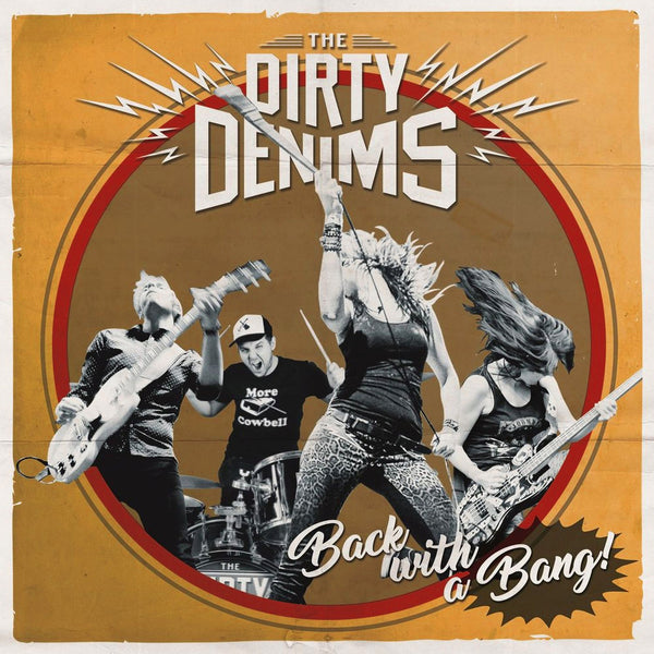 Dirty Denims- Back With A Bang LP ~RUNAWAYS / RED HOT RED WAX!