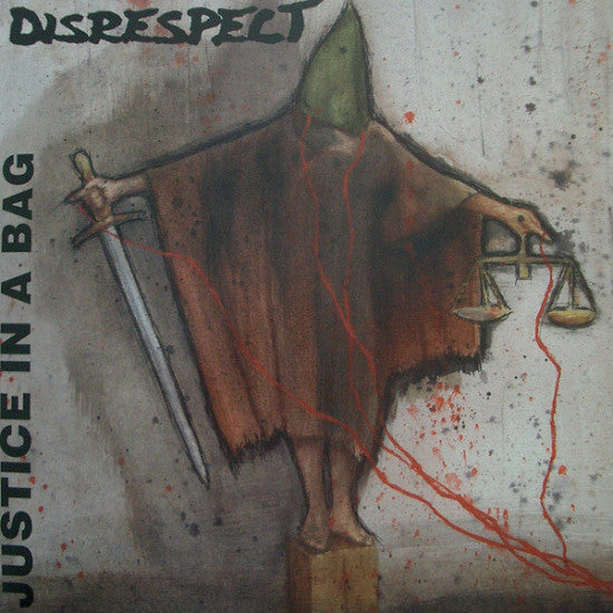 "Disrespect- Justice In A Bag 7"" ~RARE RED WAX! - Profane Existence - Dead Beat Records"